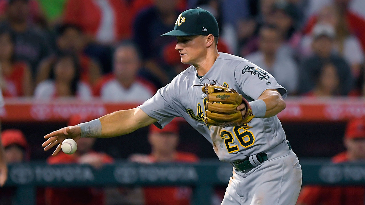 Defensive miscues, walks add up in A's loss
